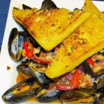 mussels and toast